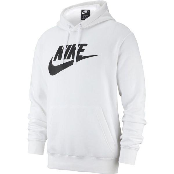 oscuridad claridad nitrógeno  Nike Hoodie NSW Club - White/Black | www.unisportstore.com