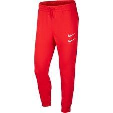 Nike NSW Jogginghose Swoosh - Rot/Weiß
