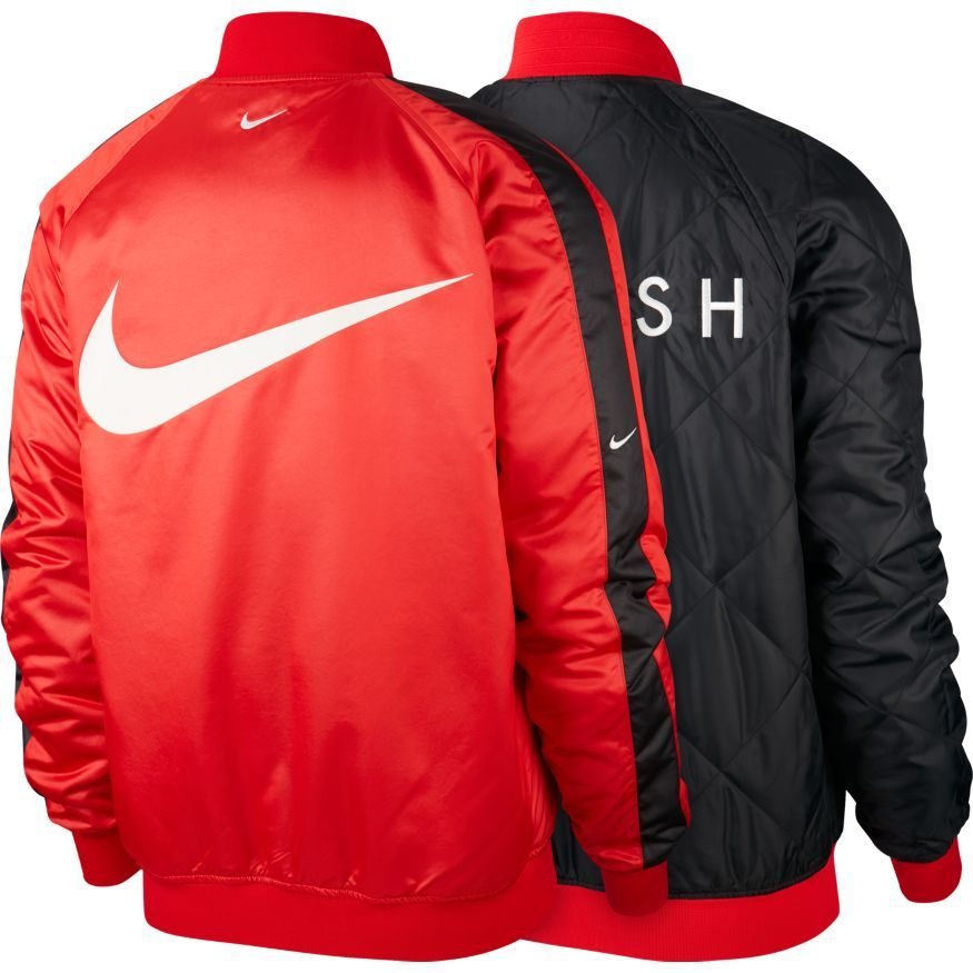 Nike Veste NSW Woven Réversible RougeNoirBlanc