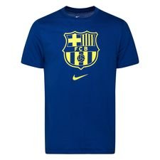 Barcelona T-Shirt Evergreen Crest - Navy/Gul