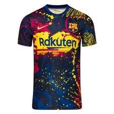 Barcelona Tränings T-Shirt Pre Match - Navy/Gul