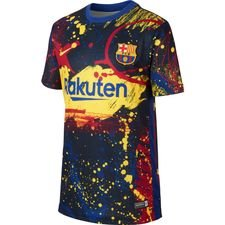 Barcelona Tränings T-Shirt Pre Match - Navy/Gul Barn