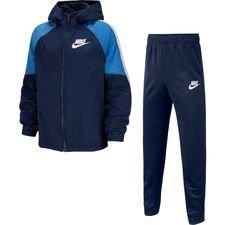 Nike Trainingsanzug NSW Woven - Navy/Weiß Kinder