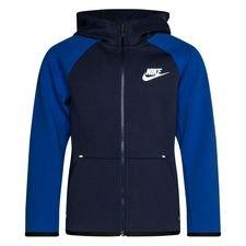 Nike Hoodie Tech Fleece Essentials FZ - Navy/Blauw/Wit Kinderen