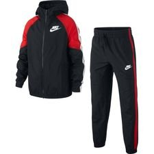 Nike Trainingsanzug NSW Woven - Schwarz/Rot/Weiß Kinder