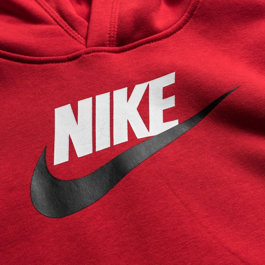 Nike Hoodie NSW Club Hybrid RotWeiß Kinder | www