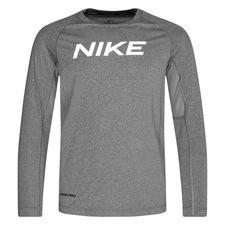 Nike Pro Træningstrøje - Grå/Hvid Børn thumbnail