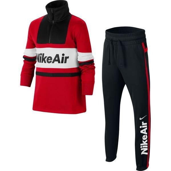 Nike Trainingsanzug Air RotSchwarzWeiß Kinder