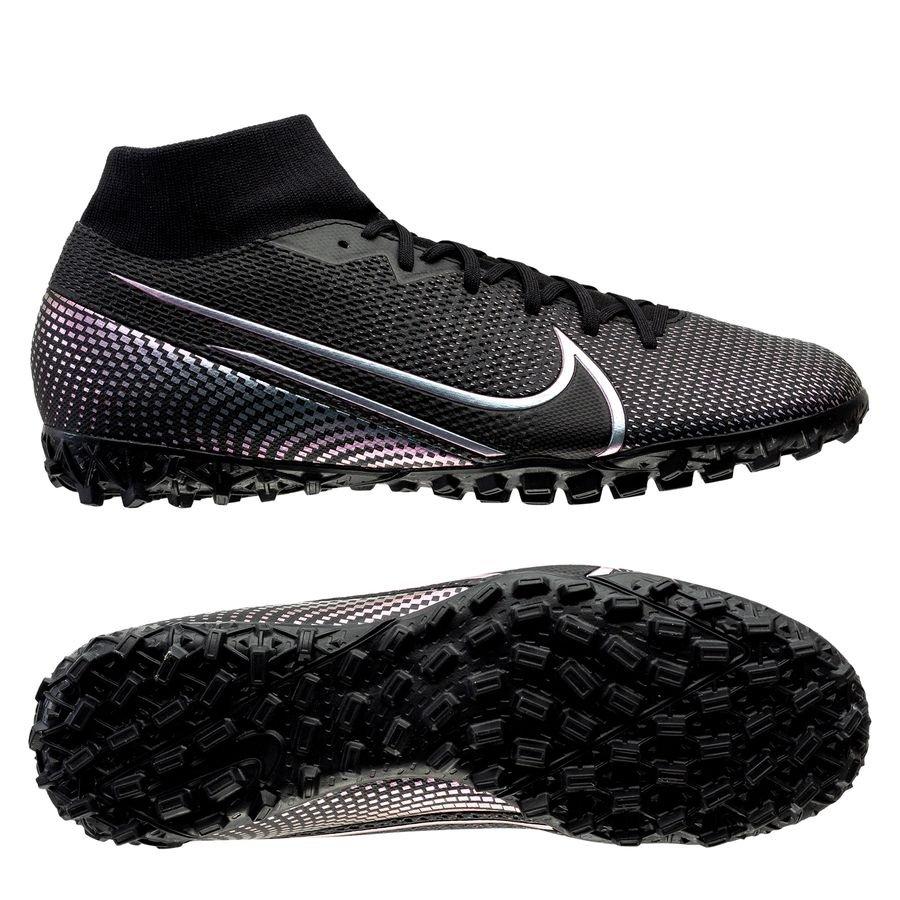 Nike Mercurial Superfly 7 Academy TF Kinetic Black - Sort