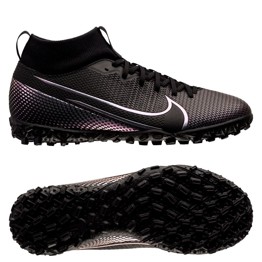 Nike Mercurial Superfly 7 Academy TF Kinetic Black - Sort Børn
