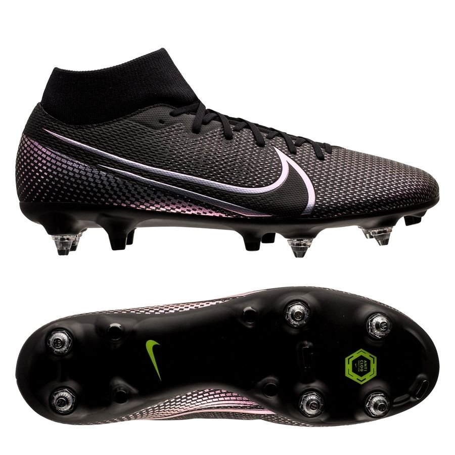 Nike Mercurial Superfly 7 Academy SG-PRO Anti-Clog Kinetic Black - Sort