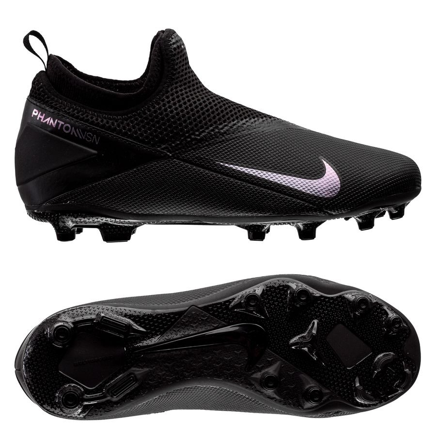 Nike Phantom Vision 2 Academy DF MG Kinetic Black - Sort Børn