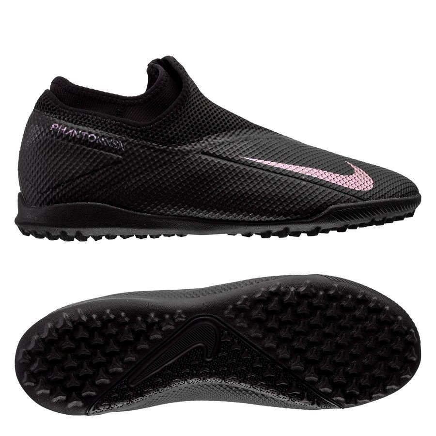 Nike Phantom Vision 2 Academy DF TF Kinetic Black - Sort