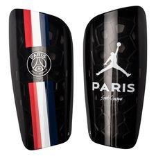 Paris Saint-Germain Benskydd Mercurial Lite Jordan x PSG - Svart/Blå/Röd/Vit