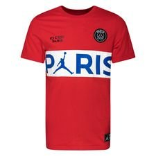 Nike T-Shirt Wordmark Jordan x PSG - Röd/Vit LIMITED EDITION