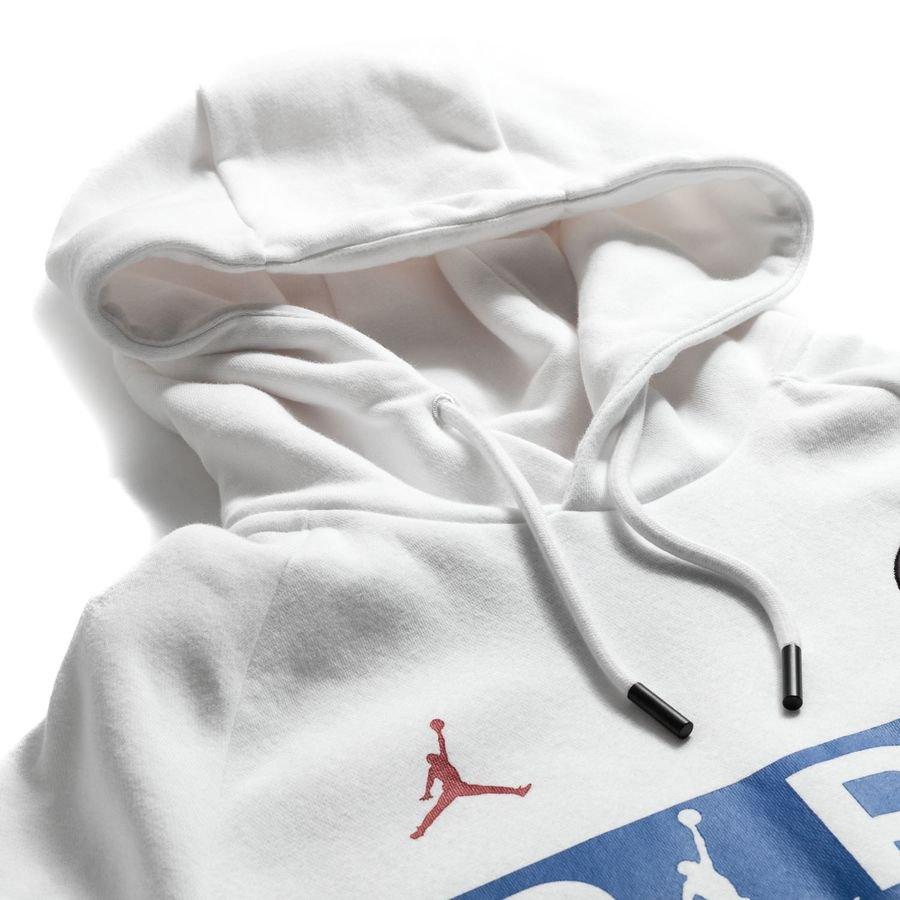 Nike Hoodie Jumpman PO Jordan x PSG WhiteUniversity Red LIMITED EDITION