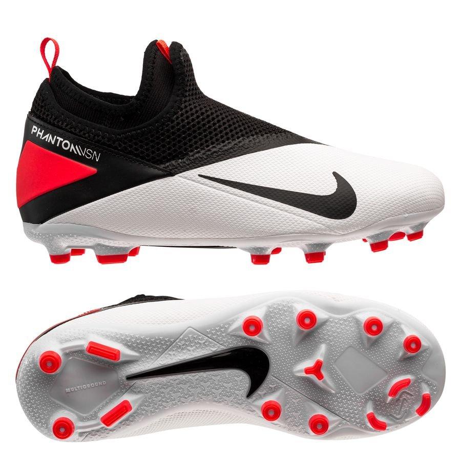 Nike Phantom Vision 2 Academy DF MG Player Inspired - Hvid/Sort/Pink Børn
