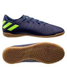 adidas Nemeziz Messi 19.4 IN - Blau/Signal Green/Glory Purple Kinder