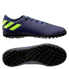 adidas Nemeziz Messi 19.4 TF - Blau/Signal Green/Glory Purple Kinder