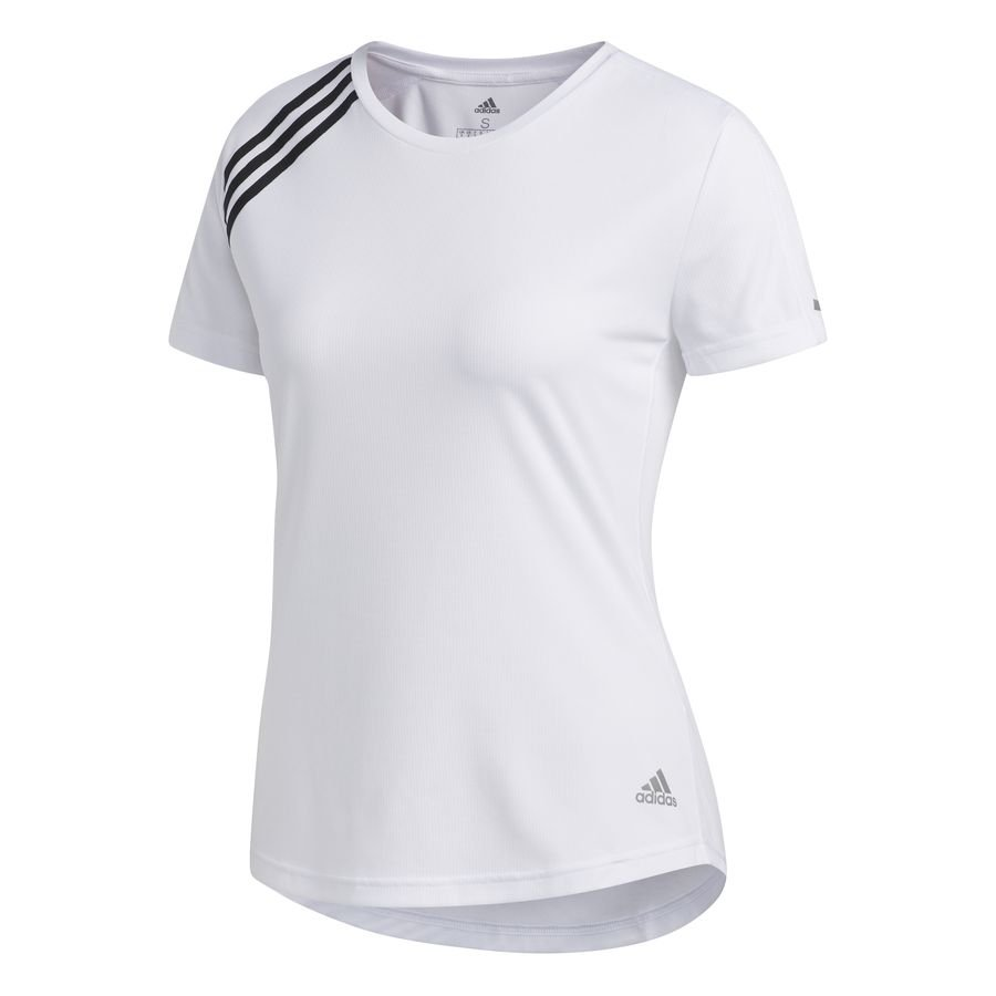 3-Stripes Run T-shirt Hvid thumbnail