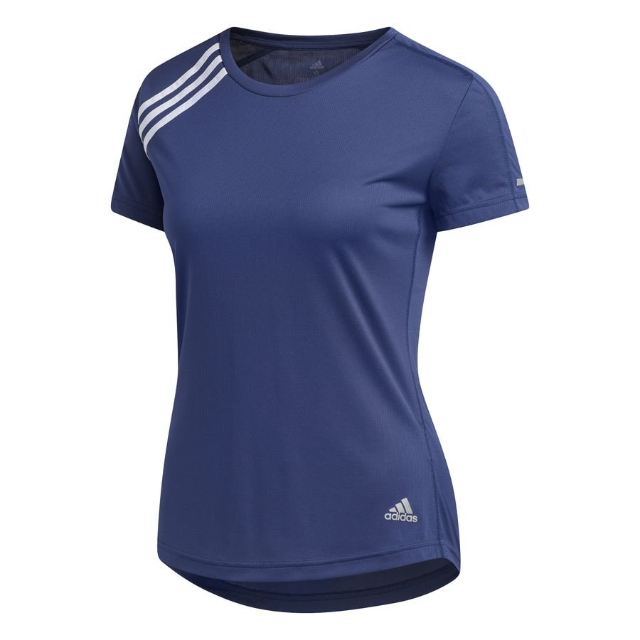 3-Stripes Run T-shirt Blå thumbnail