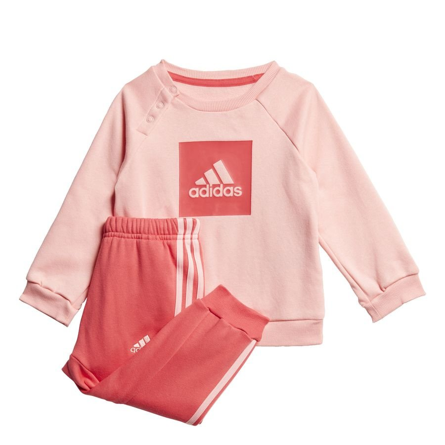3-Stripes Fleece joggingdragt Pink thumbnail