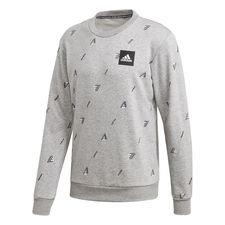 Must Haves Graphic Crew Sweatshirt Grå