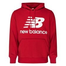 New Balance Essentials Hoodie Logo - Bordeaux/Weiß