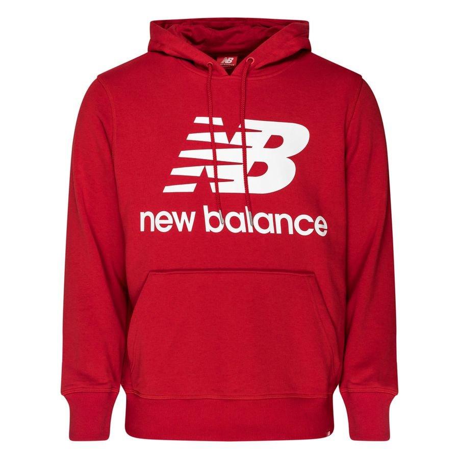 New Balance Essentials Hættetrøje Logo - Bordeaux/Hvid thumbnail