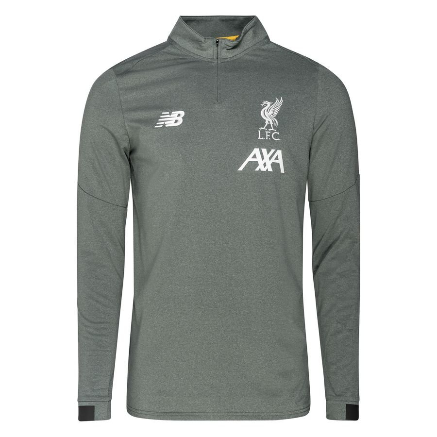 Liverpool Træningstrøje Midlayer - Grøn/Hvid thumbnail