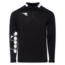 Diadora Trainingsshirt Equipo Pro 1/2 Zip - Schwarz/Weiß Kinder