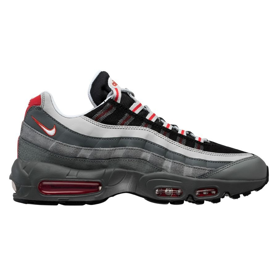 Nike Air Max 95 Essential Particle Grey Track Red Black Www
