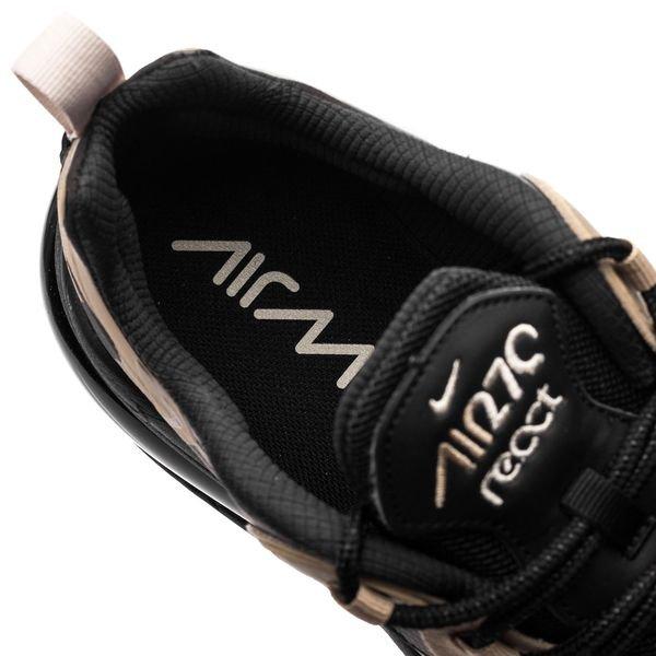 Nike Air Max 270 React ZwartGrijsBeigeGoud
