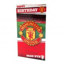 Manchester United Geburtstagskarte - Röd