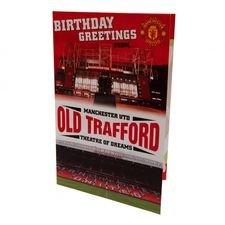 Manchester United Geburtstagskarte Pop-Up - Röd/Vit