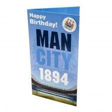 Manchester City Geburtstagskarte - Blå/Vit