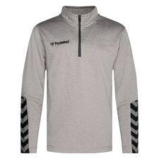 Hummel Trainingsshirt Authentic 1/2 Zip - Grau/Schwarz Kinder