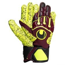 Uhlsport Torwarthandschuhe Supergrip HN - Bordeaux/Navy/Gelb LIMITED EDITION