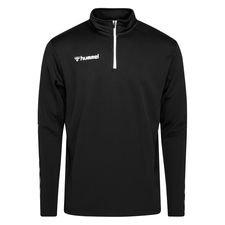 Hummel Trainingsshirt Authentic 1/2 Zip - Schwarz/Weiß Kinder