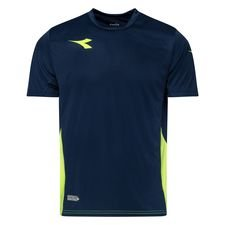 Diadora Training T-Shirt Equipo - Navy/Gelb Kinder