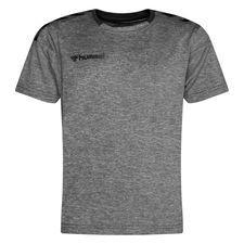 Hummel Voetbalshirt Authentic Poly – Grijs/Zwart