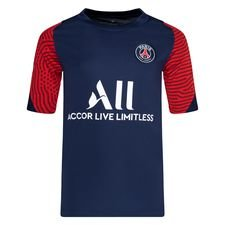 Paris Saint-Germain Tränings T-Shirt Breathe Strike - Navy/Vit Barn