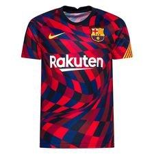 Barcelona Tränings T-Shirt Breathe Pre Match - Röd/Gul Barn