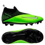 Nike Phantom Vision 2 Elite DF MG LAB2 - Noir/Metallic Platinum/Vert Enfant