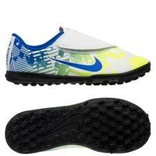 Nike Mercurial Vapor 13 Club Velcro TF NJR Jogo Prismatico - Hvid/Blå/Neon/Sort Børn