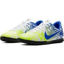 Nike Mercurial Vapor 13 Club IC NJR Jogo Prismatico - Weiß/Blau/Neon/Schwarz Kinder
