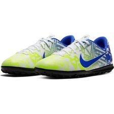 Nike Mercurial Vapor 13 Club TF NJR Jogo Prismatico - Hvid/Blå/Neon/Sort Børn