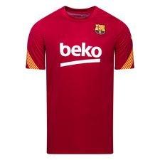 Barcelona Tränings T-Shirt Breathe Strike - Bordeaux/Gul
