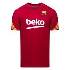 Barcelona Tränings T-Shirt Breathe Strike - Bordeaux/Gul Barn
