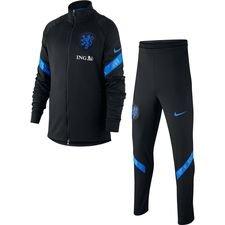 Holland Trainingsanzug Dry Strike EURO 2020 - Schwarz/Blau Kinder